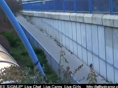 Couple fucks in public Train Station webcam cumshots porn videos free live