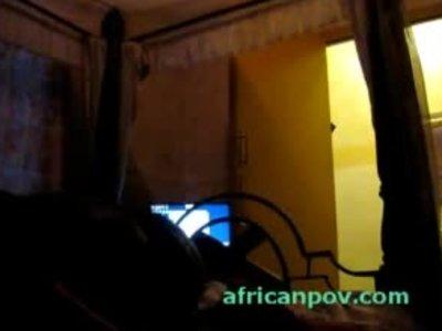 Little African 19yo teen pleases sextourist in seedy hotel