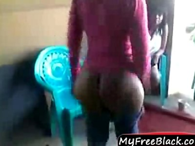south african bitch showing her big booty