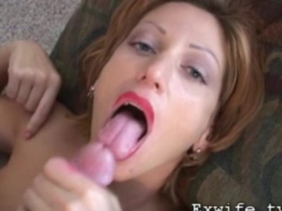Mega milf gets cum splattered all over her face
