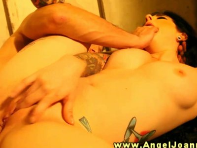 Angel Joanna sucks and fucks hard cock