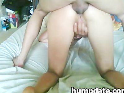 Wife gets her anus rammed and creampied
