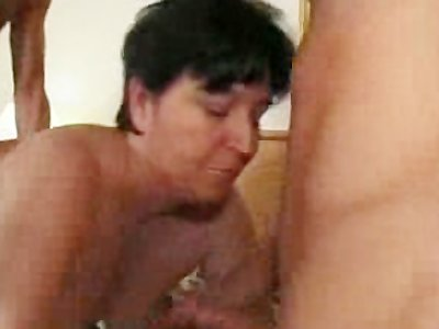 Mature Surprised By Four Cocks
