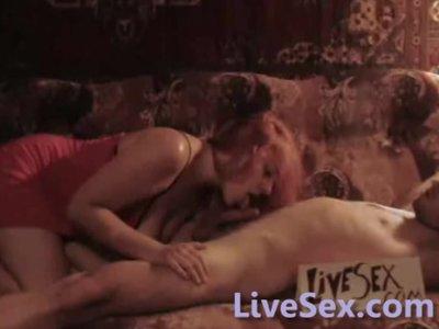 LiveSex.com - Big titted redhead teasing